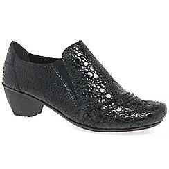 Rieker - Dark grey 'Odyssey' Womens High Cut Court Shoes