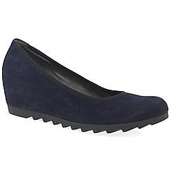Gabor - Dark purple 'Request' Womens Modern Wedge Court Shoes