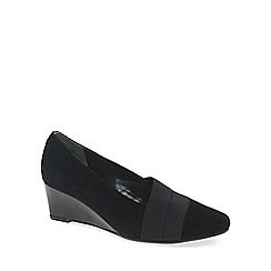 Van Dal - Black 'Candor' womens wedge heel shoes