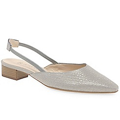 Peter Kaiser - Grey leather 'Castra' low heeled slingback sandals