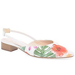 Peter Kaiser - Multi Coloured leather 'Castra' low heeled slingback sandals