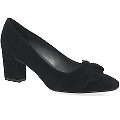 Peter Kaiser - Black suede 'Gesina' womens dress court shoes