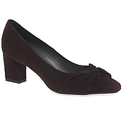 af05ef632f2 Peter Kaiser - Wine suede  Gesina  womens dress court shoes