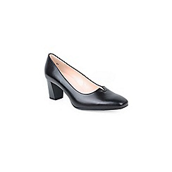 Peter Kaiser - Black leather 'dura' womens court shoes