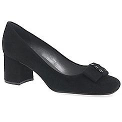 Peter Kaiser - Black suede 'cella' womens court shoes