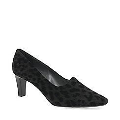 Peter Kaiser - Grey 'Mova' mid heeled court shoes
