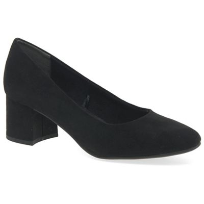 Marco Tozzi - Black 'enterprise' high heel court shoes
