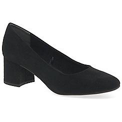 Marco Tozzi - Black 'enterprise' high heel court shoes