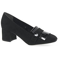 Marco Tozzi - Black 'delight' mid heel court shoes