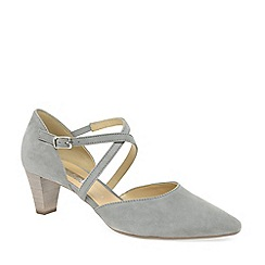 Gabor - Grey suede 'callow' mid heeled court shoes