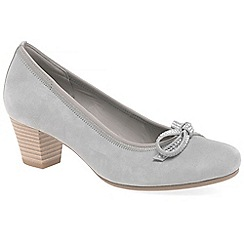 Gabor - Light grey suede 'Stainby' mid heeled court shoes