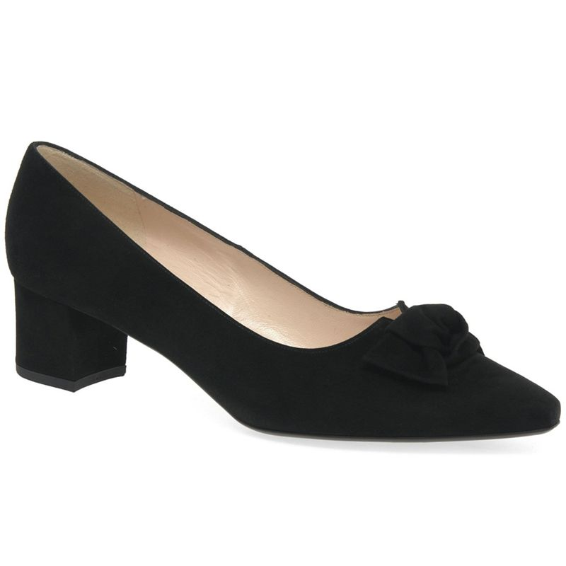 Peter Kaiser - Black Suede Binella Mid Heeled Court Shoes