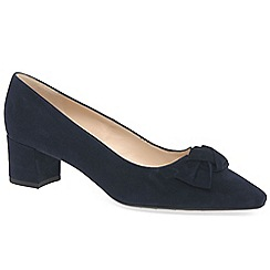 Peter Kaiser - Navy suede' Binella' mid heeled court shoes