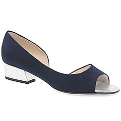 Peter Kaiser - Navy suede 'Pura' low heeled open court shoes
