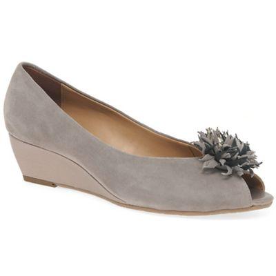 Van Dal - Fawn suede 'Kingswood' mid heel wedge shoes