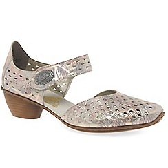Rieker - Pink leather 'Illinois' Mary Jane open court shoes