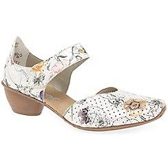 Rieker - Multi-coloured 'Fressia' mid heel Mary Jane shoes