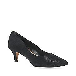 6a1c2c7cfe4c Van Dal - Black suede  Nina  mid kitten heeled court shoes
