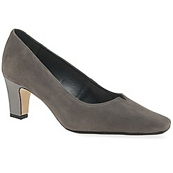 d43749f8688a Van Dal - Grey suede  Eleanor  high heeled wide fit court shoes