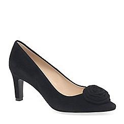 Peter Kaiser - Black Suede 'Ravali' Womens Court Shoes