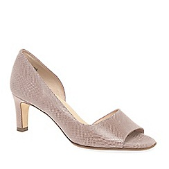 Peter Kaiser - Light Pink Leather 'Beate' Mid Heeled Open Court Shoes