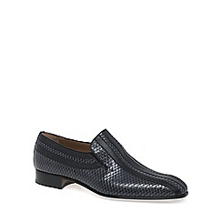 Paco Milan - Dark grey 'Almansa' Mens Croc Leather Loafers