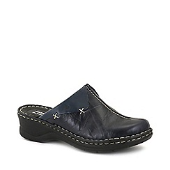 Josef Seibel - Navy 'Cerys' Womens Leather Clogs