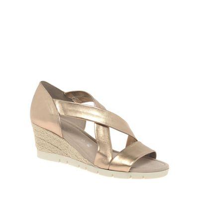 Gabor - Gold 'Lisette' Womens Sandals