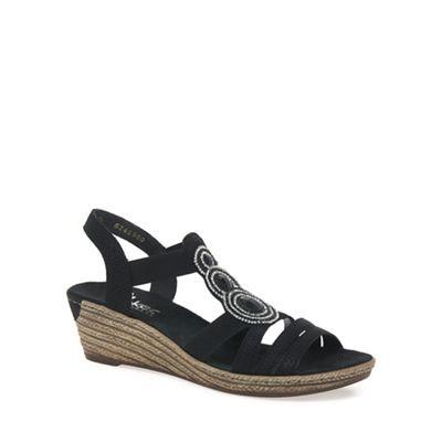 Rieker - Black 'Trio' Womens Casual Sandals