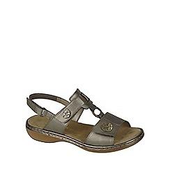 Rieker - Metallic 'Rhodes' Womens Casual Sandals