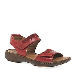 Josef Seibel - Red 'Debra 19' womens leather sandals