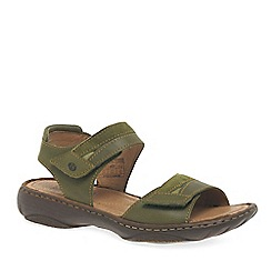 Josef Seibel - Dark green 'Debra 19' womens leather sandals