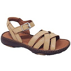 Josef Seibel - Natural leather 'Debra 23' flat sandals