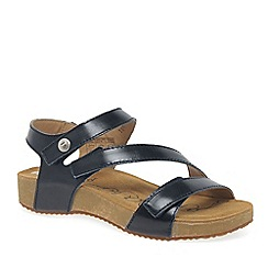 Josef Seibel - Navy leather 'Tonga 25' flat sandals