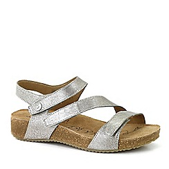 Josef Seibel - Silver 'Tonga 25' Womens Leather Sandals