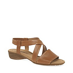 Gabor - Tan leather 'Ensign' flat sandals