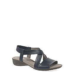 Gabor - Navy leather 'Ensign' flat sandals