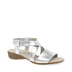 Gabor - Silver leather 'Ensign' flat sandals