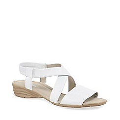 Gabor - White leather 'Ensign' flat sandals