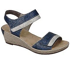 Rieker - Blue 'Tote' wedge sandals