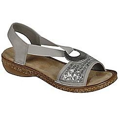 Rieker - Grey 'Chintz' womens casual sandals