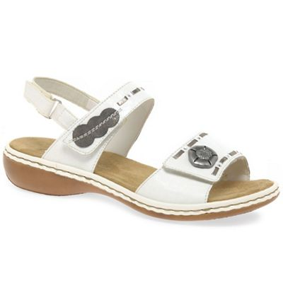 Rieker - White 'Spacer' Womens Casual Sandals