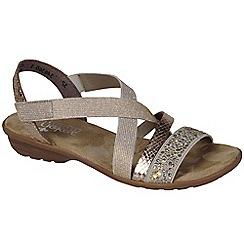 Rieker - Metallic 'Copper' womens flat sandals