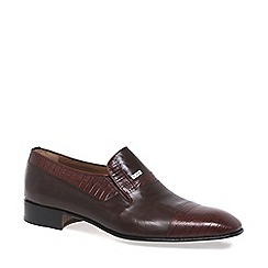 Paco Milan - Dark brown 'Elche' Leather Formal Slip On Shoes