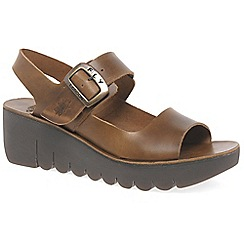 Fly London - Camel 'Yail' womens casual sandals