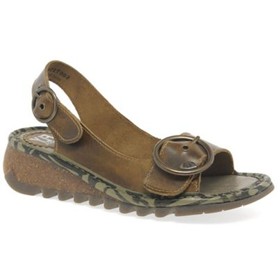 Fly London - Brown 'Tram' womens casual sandals