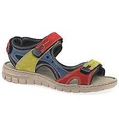 Josef Seibel - Multi Coloured leather 'Stefanie 23' flat sandals