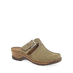 Josef Seibel - Cream 'Catalonia 17' Womens T Strap Mules