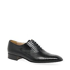Paco Milan - Black 'Granada' Leather Lace Up Shoes