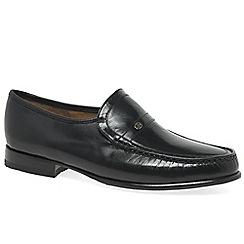 Barker - Black 'Jefferson' mens leather moccasins